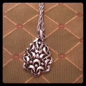 Funky vintage pendant with long chain